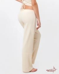 Pantalón palazo en 100% algodón natural